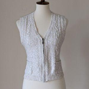 Lizwear Liz Claiborne VTG Zip Knit Sweater Vest